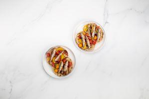 Sardines on toast with fresh tomato